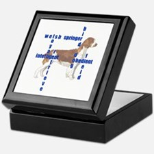 Welsh Springer spaniel Crossw Keepsake Box