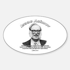 Isaac Asimov 05 Oval Decal
