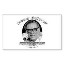 Isaac Asimov 06 Rectangle Decal