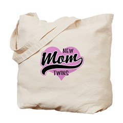 New Mom Twins Tote Bag