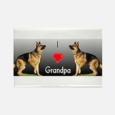 I love Grandpa German Shepherd Rectangle Magnet