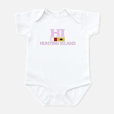 Hunting Island - Nautical Flags Design Infant Body