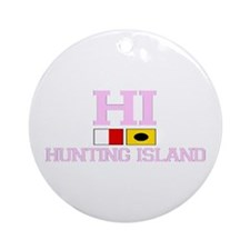 Hunting Island - Nautical Flags Design Ornament (R