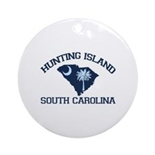 Hunting Island - Map Design Ornament (Round)
