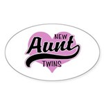 New Aunt Twins Sticker (Oval)