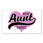 New Aunt Twins Sticker (Rectangle 10 pk)