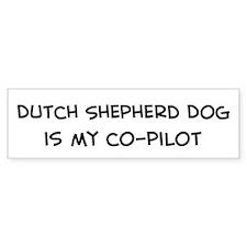 Co-pilot: Dutch Shepherd Dog Bumper Car Sticker