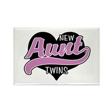 New Aunt Twins Rectangle Magnet