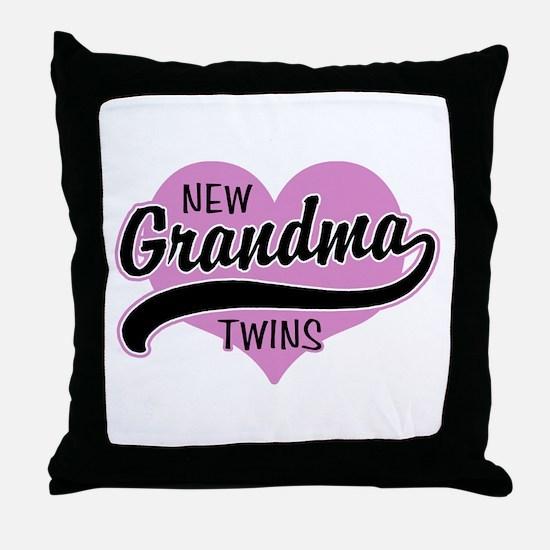 New Grandma Twins Throw Pillow