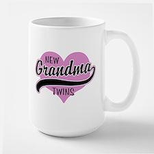 New Grandma Twins Large Mug