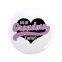 "New Grandma Twins 3.5"" Button"