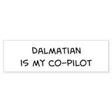 Co-pilot: Dalmatian Bumper Car Sticker