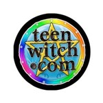 """TeenWitch.com 3.5"""" Button (100 pack)"""