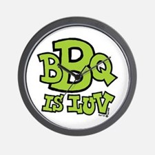 BBQ is Luv Wall Clock