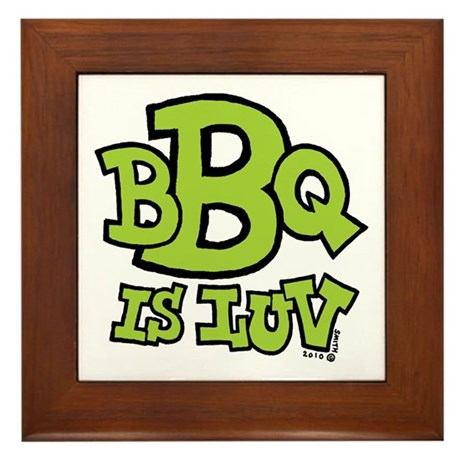 BBQ is Luv Framed Tile