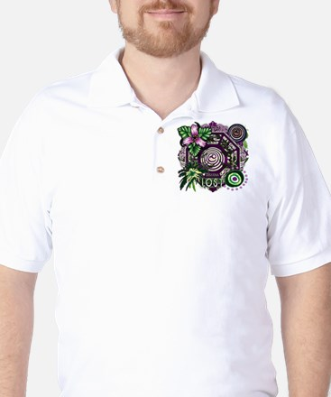 Lost TV Dharma Orchid Golf Shirt