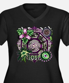 Lost TV Dharma Orchid Women's Plus Size V-Neck Dar
