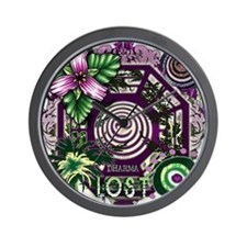 Lost TV Dharma Orchid Wall Clock