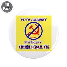 "ANYBODY BUT A DEMOCRAT ! - 3.5"" Button (10 pa"