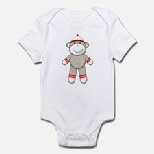 Red Sock Monkey Infant Bodysuit