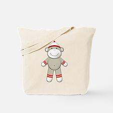 Red Sock Monkey Tote Bag