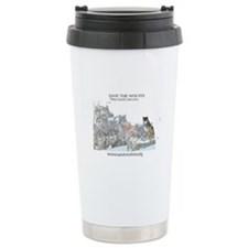 Save Wolves Travel Mug