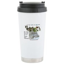 Love Dogs? Save Wolves! Travel Coffee Mug