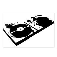DJ Turn Tables Postcards (Package of 8)