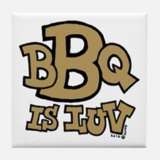 BBQ is Luv Tile Coaster