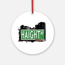 Haight Av, Bronx, NYC Ornament (Round)