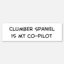 Co-pilot: Clumber Spaniel Bumper Bumper Bumper Sticker