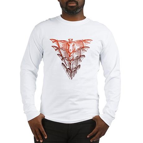 Bat Red Long Sleeve T-Shirt