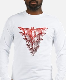 Bat Red Long Sleeve T-Shirt