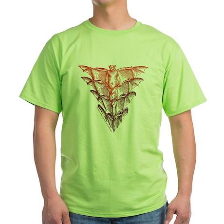 Bat Red Green T-Shirt