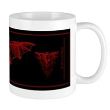 Bat Red Small Mugs