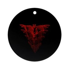 Bat Red Ornament (Round)