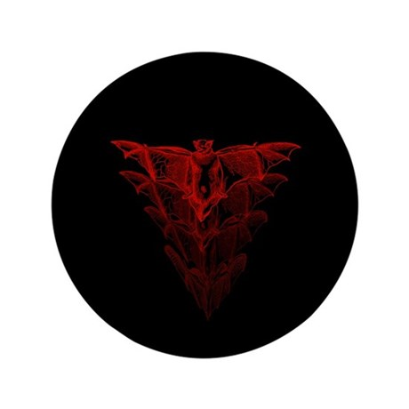 """Bat Red 3.5"""" Button (100 pack)"""