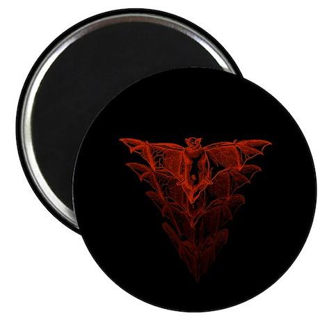 """Bat Red 2.25"""" Magnet (10 pack)"""