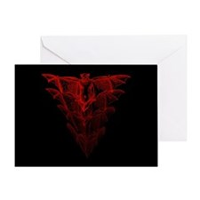 Bat Red Greeting Card