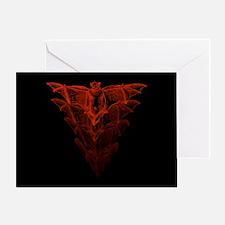 Bat Red Greeting Card
