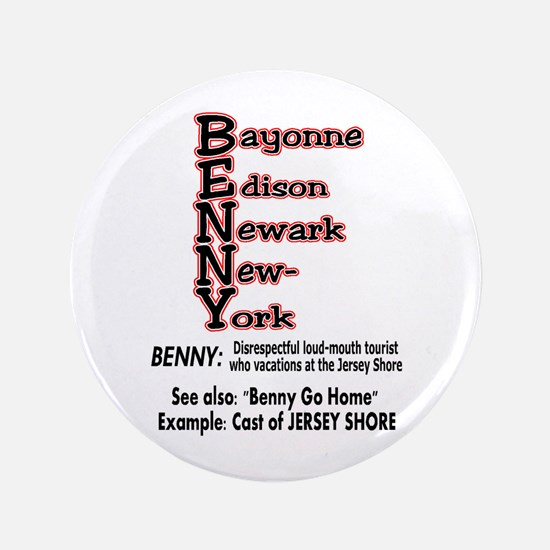 """What's A Benny? 3.5"""" Button"""