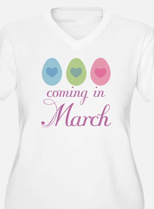 Cute Pregnancy Easter March T-Shirt