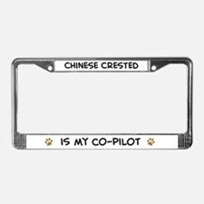 Co-pilot: Chinese Crested License Plate Frame