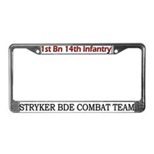 1st Bn 14th Inf License Plate Frame