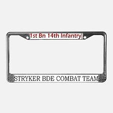 1st Bn 14th Inf License Plate Frame