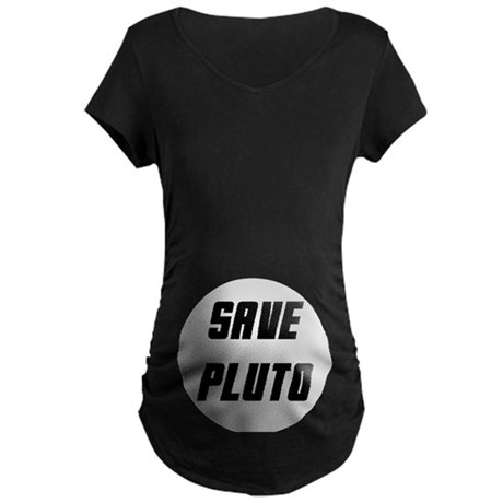 Save Pluto Maternity Dark T-Shirt