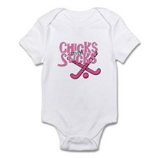 Field Hockey Chicks with Sticks Infant Bodysuit