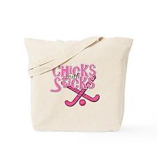 Field Hockey Chicks with Sticks Tote Bag