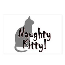 Naughty Kitty Postcards (Package of 8)
