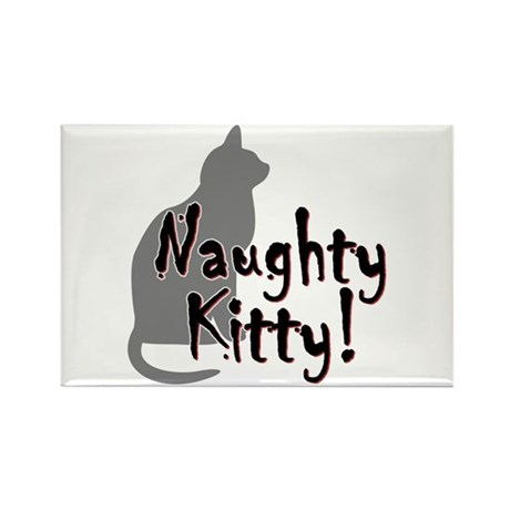 Naughty Kitty Rectangle Magnet (10 pack)